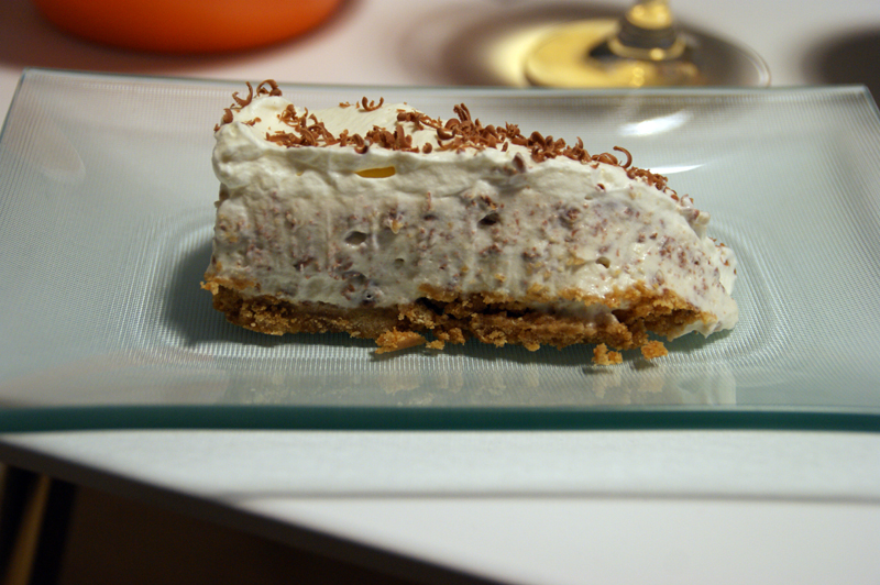 Slice of Baileys and chocolate cheesecake
